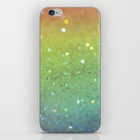 RAINBOW GLITTER iPhone & iPod Skin