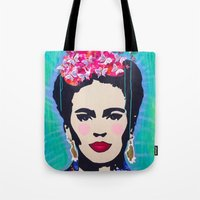 Frida Kahlo by Paola Gonzalez Tote Bag
