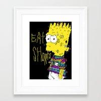 EAT SHORTS Framed Art Print