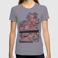 Anonymous Womens Fitted Tee Slate SMALL