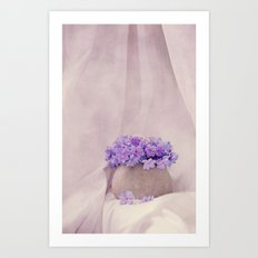poeme de violet Art Print