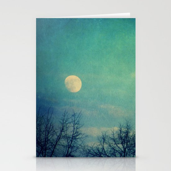 Ice Moon Stationery Card