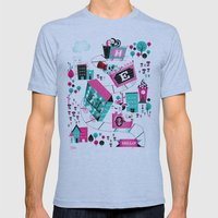 Hello! Mens Fitted Tee Athletic Blue SMALL