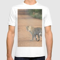 africa SMALL Mens Fitted Tee White