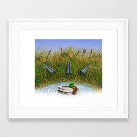 Sitting Duck Framed Art Print