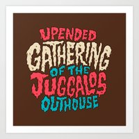 Upended Gathering Of The… Art Print
