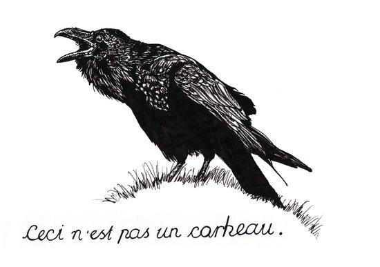 Ceci n'est pas un corbeau. Art Print