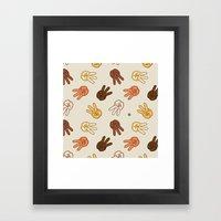 Hiii Power hand sign (remix)  Framed Art Print