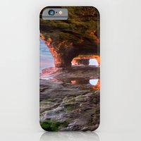 Sea Cave Sunset on Lake Superior iPhone 6 Slim Case