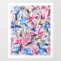 Wandering Wildflowers Pi… Art Print