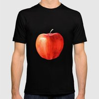 The Apple Mens Fitted Tee Black SMALL