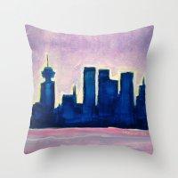 Sundown Vancouver Throw Pillow