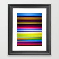 Light Beams Framed Art Print