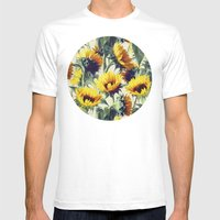 Sunflowers Forever Mens Fitted Tee White SMALL
