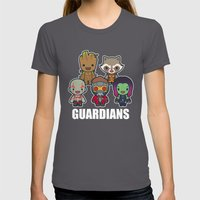 The Guardians Womens Fitted Tee Asphalt SMALL