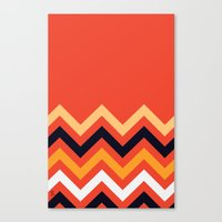 Retro Zigzag Canvas Print