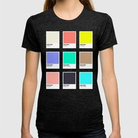 A DESIGNER'S SUMMER Womens Fitted Tee Tri-Black SMALL