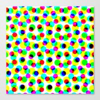 Canvas Print featuring COLORFUL DOT by Mr.DOT