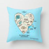 A Map Of The Introvert's… Throw Pillow