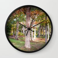 Trees At Wellesley  Wall Clock
