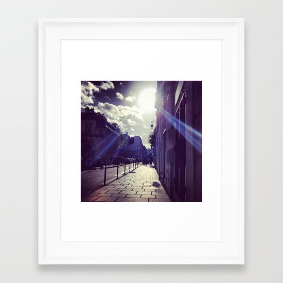 Ray of Sunshine on the Streets of Paris Framed Art Print