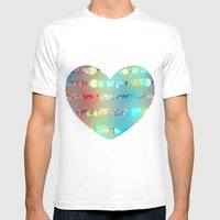 Sparkle emotions Mens Fitted Tee White SMALL