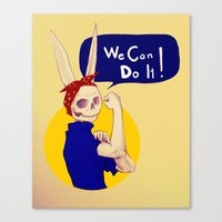 Female Bunnism Canvas Print
