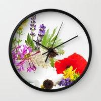 Des herbes naturelles Wall Clock