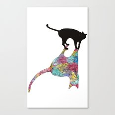 The Cat and Its Shadow Canvas Print