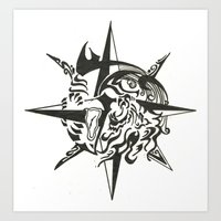 Tattoo 2 Art Print