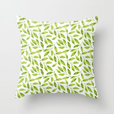 Watercolor Leaf  Throw Pillow