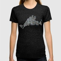 Sea Glass Womens Fitted Tee Tri-Black SMALL