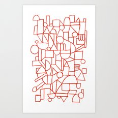 Rad Lines Art Print