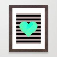 Heart Framed Art Print