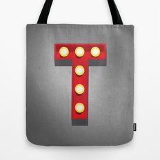 T - Theatre Marquee Letter Tote Bag