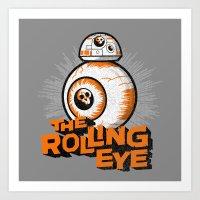 The Rolling Eye Art Print
