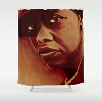 oil pastel style Shower Curtain