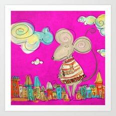 Urban Mouse Art Print