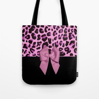 Pink& Black Leopard Print and Bow Tote Bag