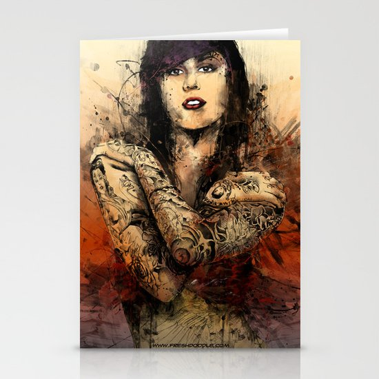 Kat Von D Stationery Card