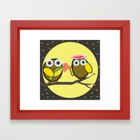 Valentine Owls Framed Art Print