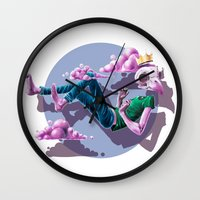 Chilling Among The Clouds Wall Clock