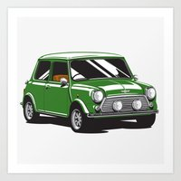 Mini Cooper Car - Britis… Art Print