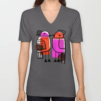 BIRDS AND BOOTS Unisex V-Neck