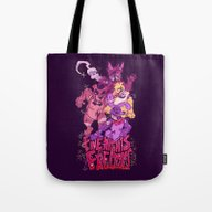 Tote Bag featuring Five Nights At Freddy's by Camille Dion-Bolduc