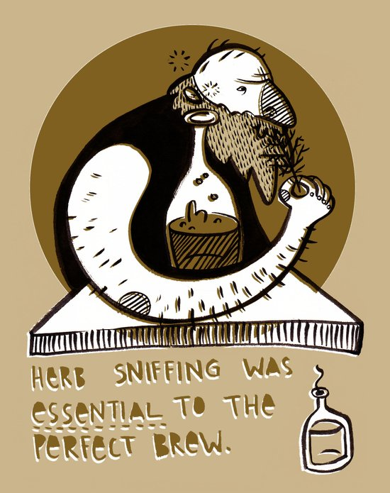 Herb sniffer Art Print