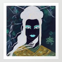 Gothic Geisha #2 Art Print