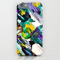 iPhone & iPod Case featuring Green Intersections by Claudia McBain