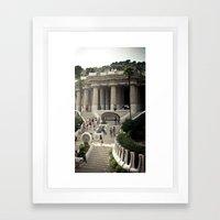 Barcelona. Park Güell Framed Art Print
