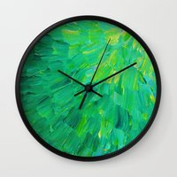 SEA SCALES In GREEN - Br… Wall Clock